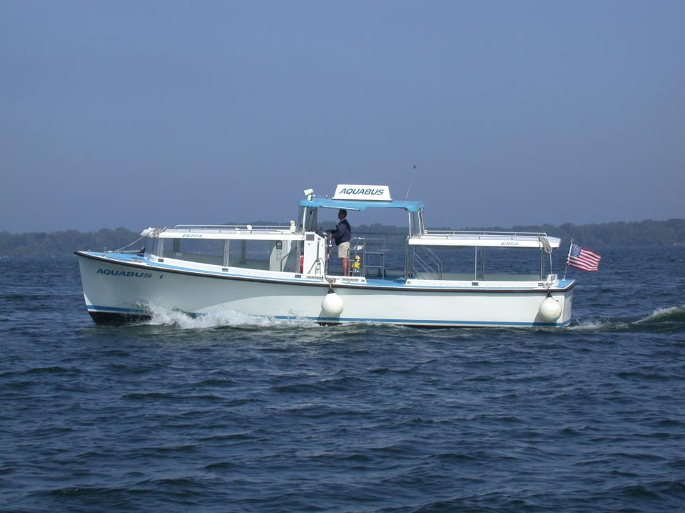 Lake Erie Water Taxi at Dobbin's Landing and Liberty Park and Waterworks