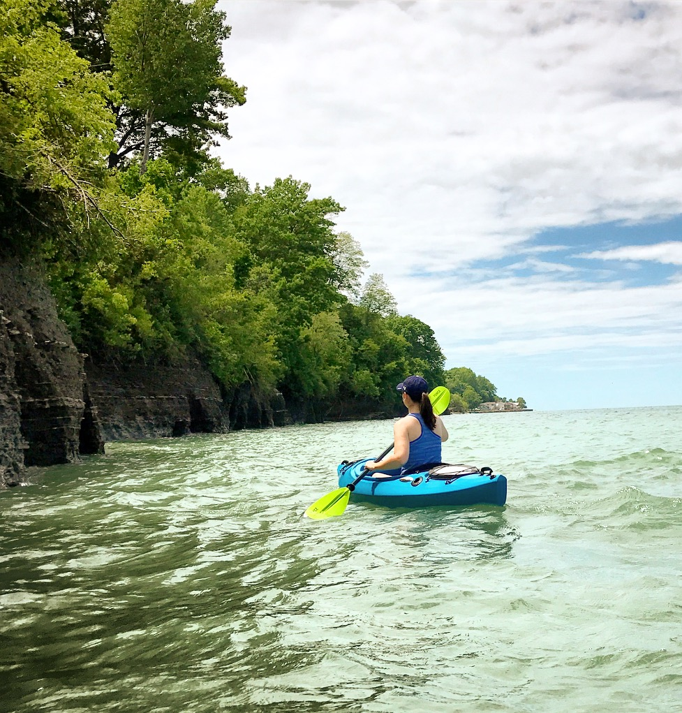 Kayaking Lake Erie in North East, PA