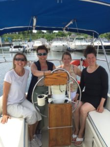 ladies on sail boat
