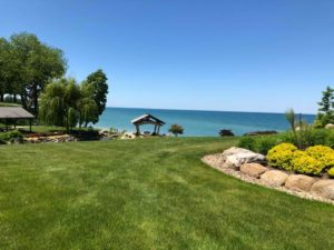 Outdoor Massage Pavilion Overlooking Lake Erie